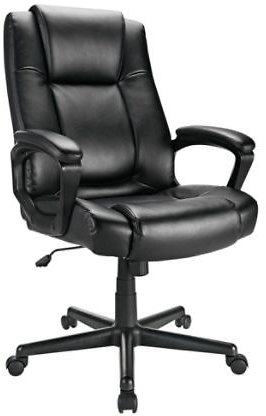 Realspace Hurston Bonded Leather High-Back Chair