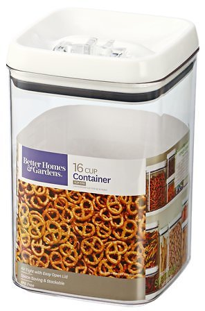 (16 Cups) Better Homes & Gardens Flip Tite Square Food Container