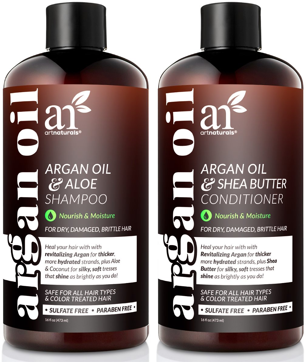 Save 28% On ArtNaturals Organic Moroccan Argan Oil Shampoo and Conditioner Set (2 X 16 Fl Oz / 473ml)