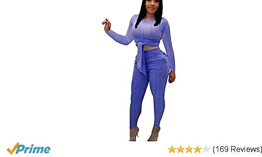 Choichic Women's Two Piece Outfits 2 PC Sets Crop Top + Skinny Pants