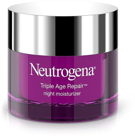 Save 22% | Neutrogena Triple Age Repair Anti-Aging Night Face Cream with Vitamin C with Glycerin & Shea Butter, 1.7 Oz