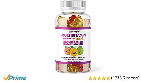 Havasu Nutrition Multivitamin Gummies for Men and Women with Vitamin A, C, D3, E, B6, B12, and Zinc, 60 Count (Kids)