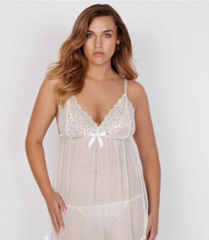 India Rose Lace And Mesh Babydoll
