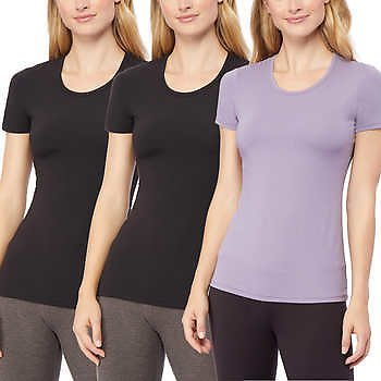 3-pack 32 Degrees Ladies' Cool Tee (2 colors)