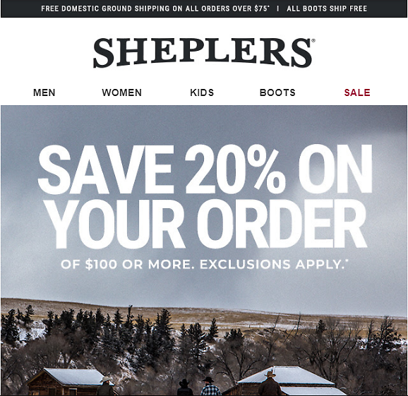 Save 20% Off On Your Next Order of $100 or More