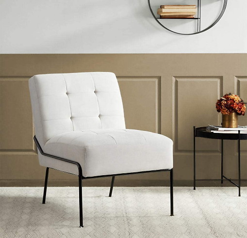 ExceptionalSheets Accent Armless Upholstered Chair