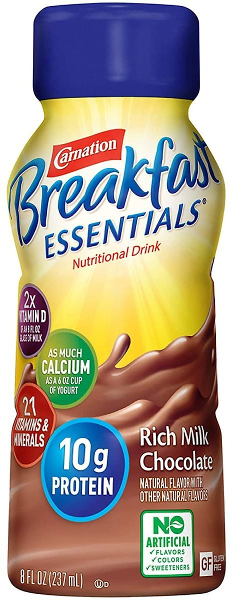 (Pack of 24) Carnation Breakfast Essentials Ready-to-Drink, Rich Milk Chocolate, 8 Ounce Bottle (Packaging May Vary)