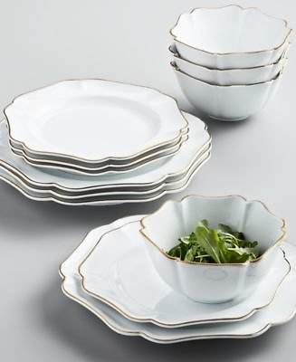 Martha Stewart Collection Baroque 12-Pc. Dinnerware Set, Service for 4, Created for Macy's & Reviews - Dinnerware - Dining