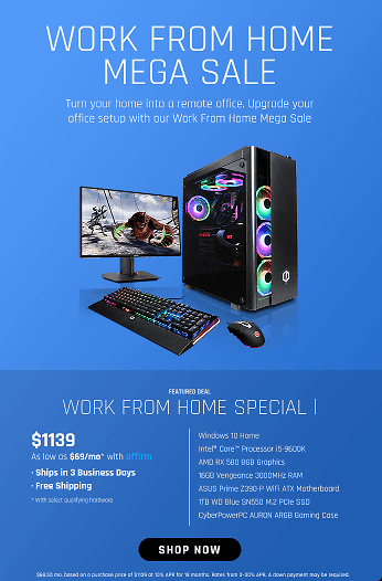 SAVE $139 Work From Home Special