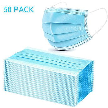 50Pcs Disposable Medical Mouth Face Masks 3-layer Respirator Mask Dust-Proof Personal Protection Health CarefromHealth & Beautyon Banggood.com