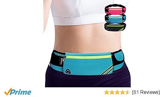 Running Belt Waist Pack Bag,Workout Gear,Gym Fitness Fanny Pack for Phone,Cell Phone Holder for Running,Jogging Pocket Belt for Women & Men,Running Accessories for IPhone 11 XS Max,XR 7 8 Plus(Blue)