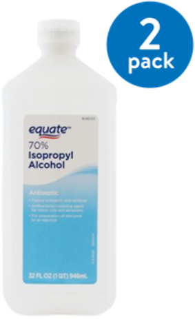 2-Pack Equate 70% Isopropyl Alcohol (32-Oz)!