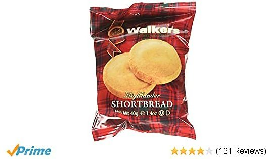 Walkers Shortbread Highlanders, Traditional Pure Butter Shortbread Cookies, 1.4 Ounce (18 Count)