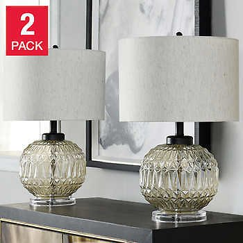 2-pack Lucca Glass Table Lamp