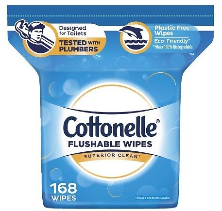Shipping Again! 168-Ct Cottonelle FreshCare Flushable Wipes