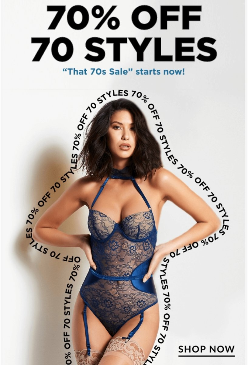 70% Off 70 Styles Flash Sale | Frederick's of Hollywood