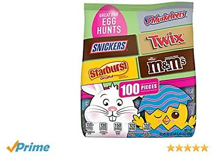 100-Pc M&M's, Snickers, Twix 7 More Candy Bag
