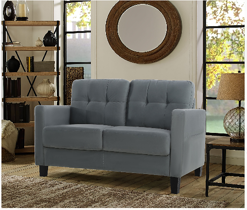 Lifestyle Solutions Tod Loveseat W/Upholstered Microfiber