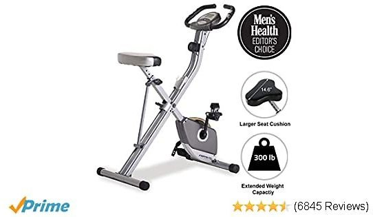 42% OFF Exerpeutic Folding Magnetic Upright Exercise Bike with Pulse