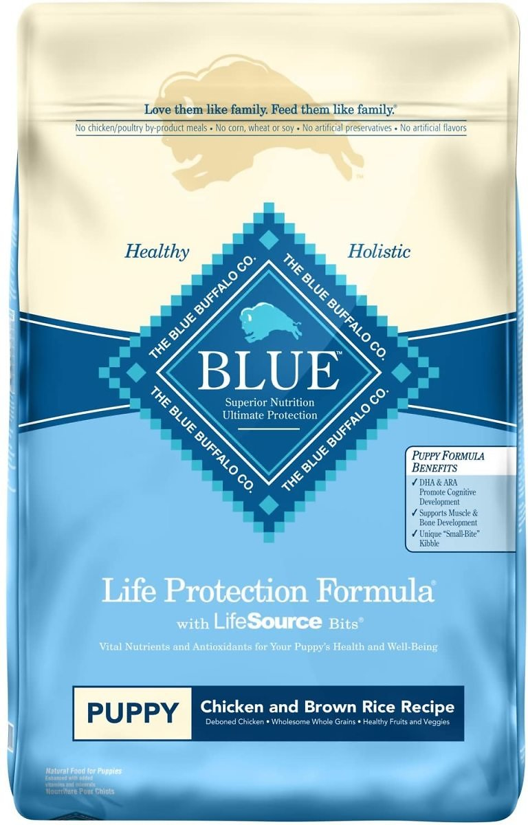 Blue Buffalo Life Protection Formula Puppy Dog Food – Natural Dry Dog Food for Puppies – Chicken & Brown Rice – 30 Lb