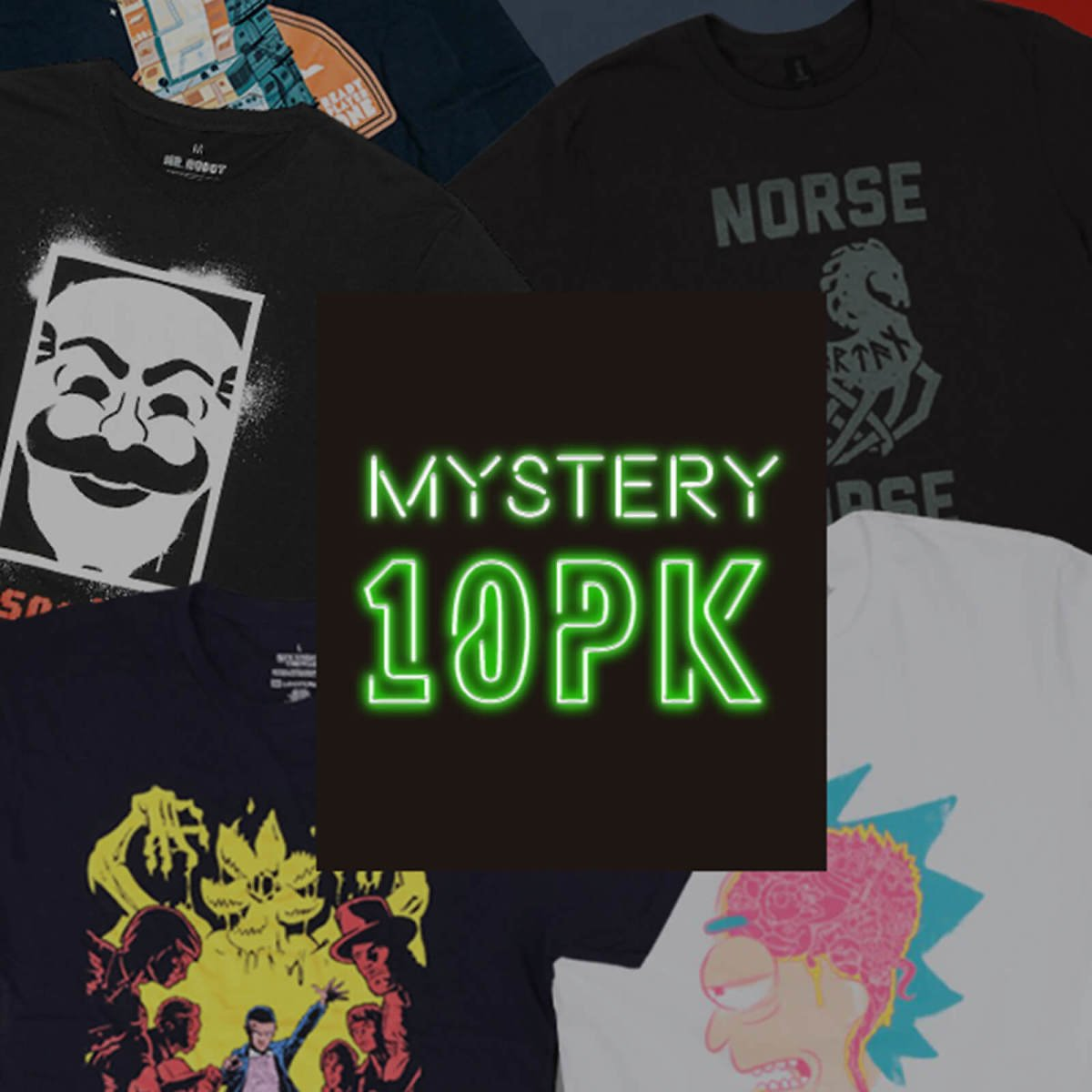 Save $89.50 Mystery Geek T-Shirt - 10-Pack