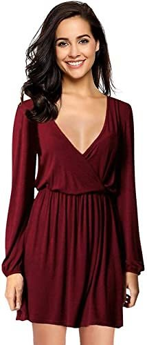 Up to [20% Off] Leadingstar Women's V-Neck A-Line Party Casual Dress