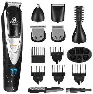 Digoo DG-800B 12 in 1 Hair Clipper Kit Men's Electric Grooming Trimmer for Beard Nose Ear Facial Body Waterproof USB Rechargeable CordlessShavers and Hair RemovalfromHealth & Beautyon Banggood.com