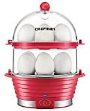 Copper Chef Want The Secret to Making Perfect Eggs & More C Electric Cooker Set-7 or 14 Capacity. Hard Boiled, Poached, Scrambled Eggs, or Omelets Automatic Shut Off, 7.5 X 6.7 X 7.5 Inches, Red: Kitchen & Dining