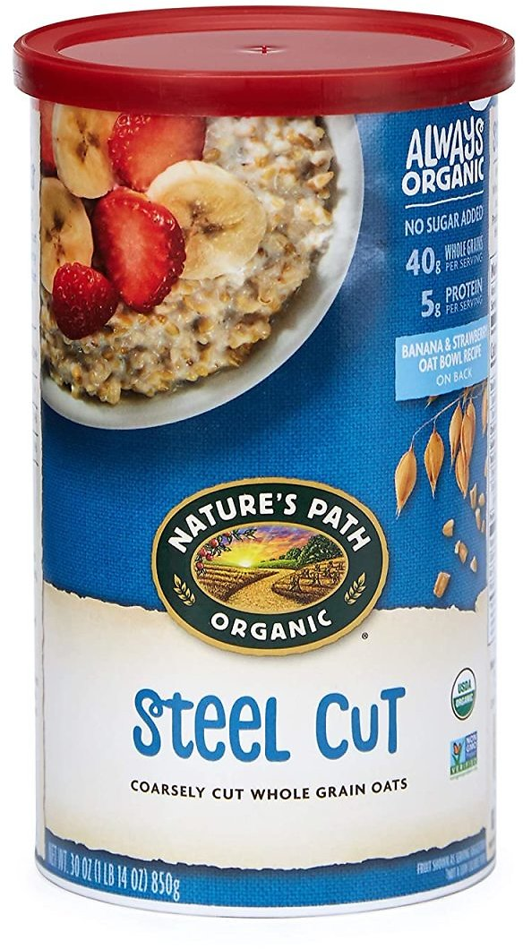 Save 31%   Nature's Path Organic Oats, Steel Cut, 30 Ounce Canister