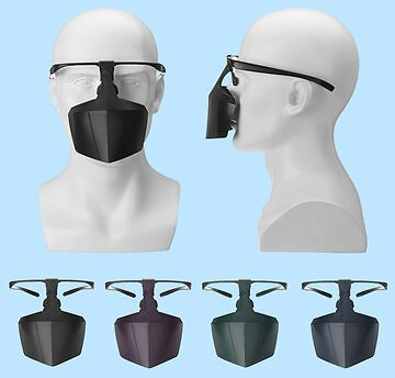 Plastic Face Mask Anti-Droplet Breathable Reusable Protective Cover Safety ShieldProfessional