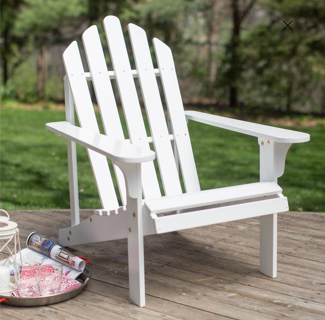Coral Coast Pleasant Bay Acacia Adirondack Chair - White