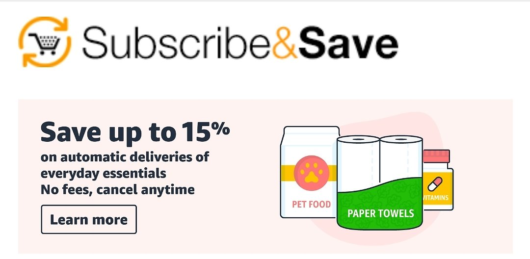 Save up to 15% on when receiving 5 or more products in one auto-delivery to one address.
