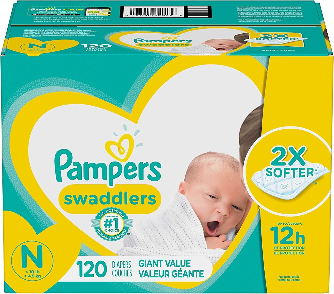 18% OFF | 198-Ct Pampers Swaddlers Disposable Diapers (F/S)