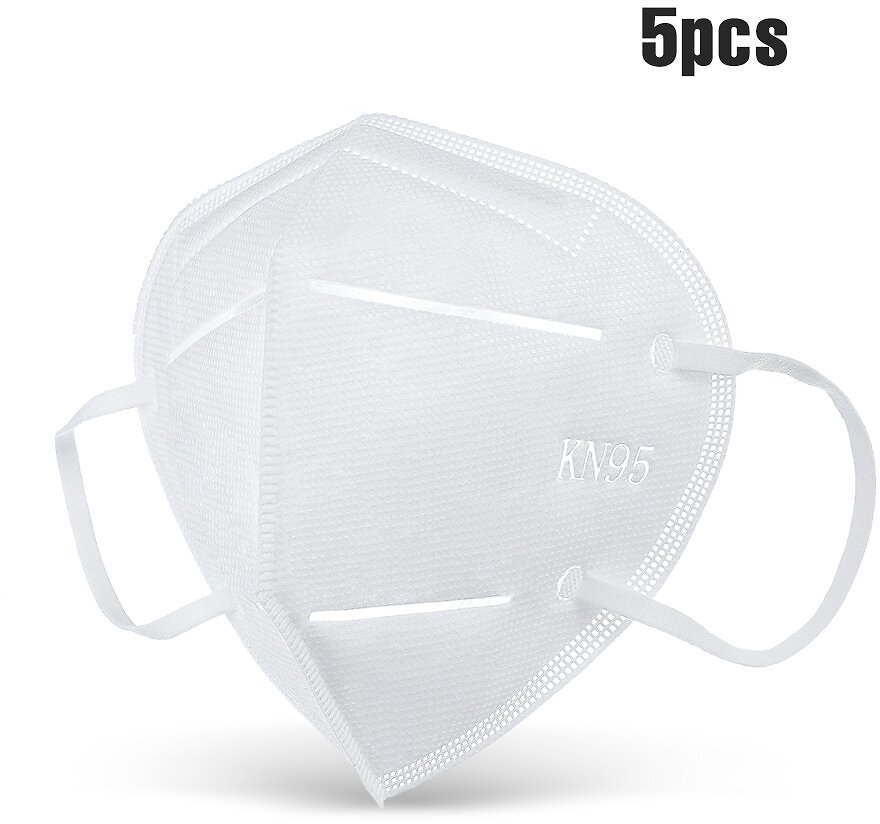 DIGOO DG-KN95 5PCS KN95 4 Layers Face Mask Anti Droplets Dust Car Exhaust Foldable Breathing Protective Mask Filter Respirator