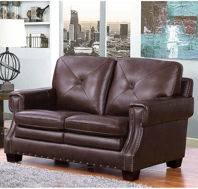 Stanley Leather Loveseat
