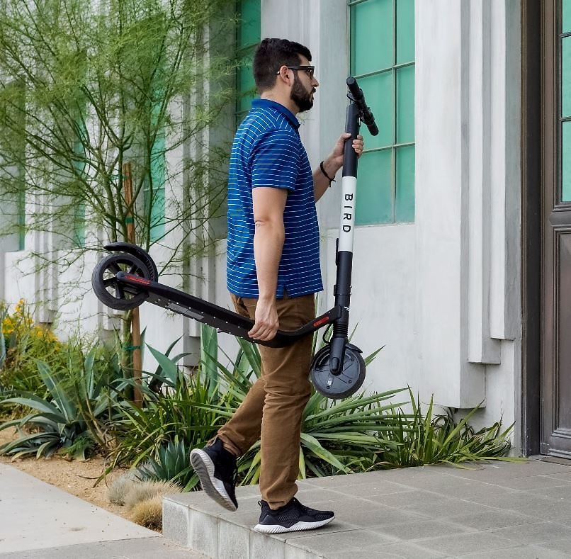 Bird ES1-300 Electric Scooter-300 Watt Motor, Ground Effect Lights, Front Shock Absorption, UL-2272 Approved, 15.5 MPH and 15.5
