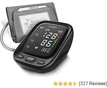 Arm Blood Pressure Monitor, HYLOGY Large LED Display Blood Pressure Machine with Adjustable Blood Pressure Cuff 2-Users Mode 180 Reading Memories, Support Type-C Charge