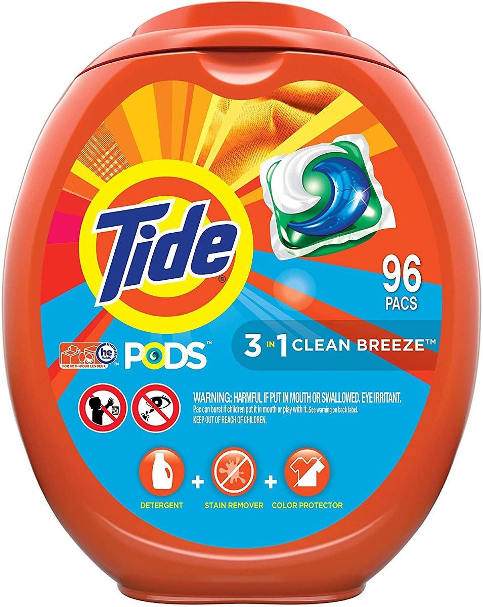 Save 11% | Tide PODS Laundry Detergent Liquid Pacs, Clean Breeze Scent, HE Compatible, 96 Count