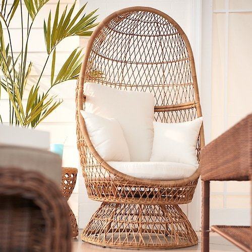 Sonoma Wicker Swivel Egg Chair + Free $60 Cash