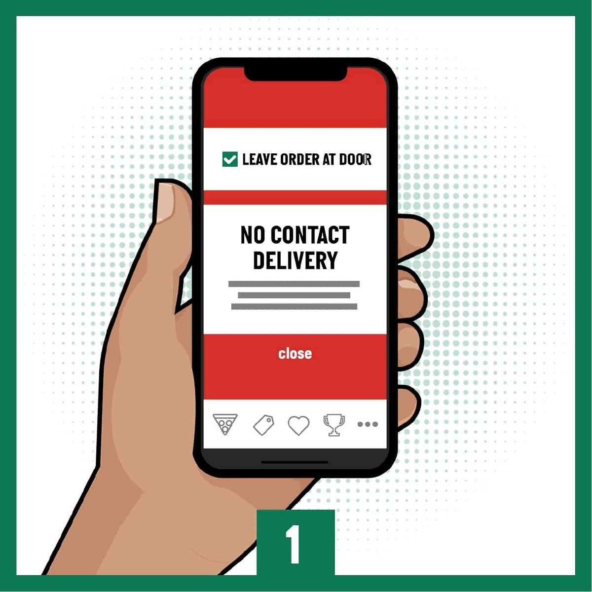 No Contact Delivery from Papa John's