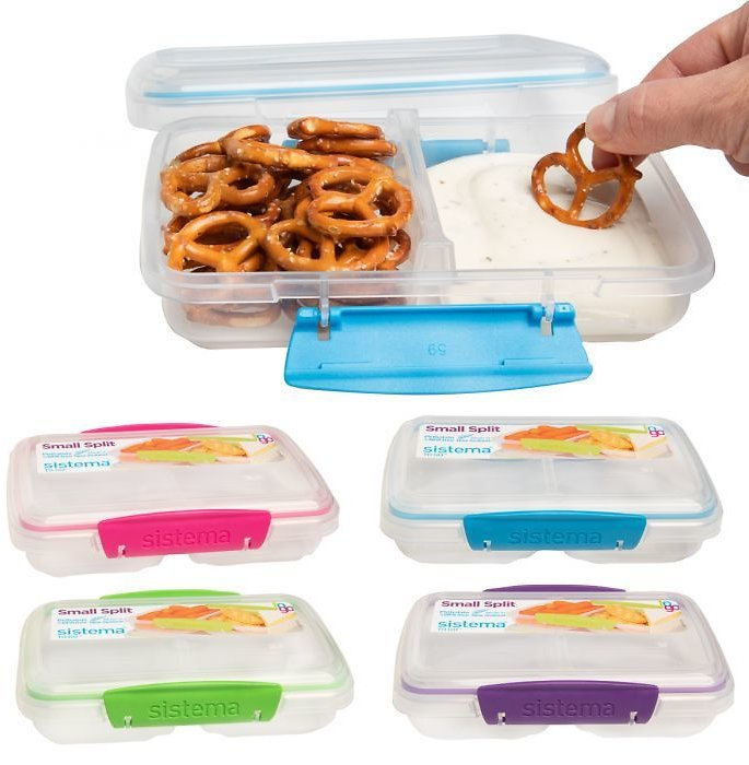 Sistema To Go Small Split Food Storage Container - Latching Lid