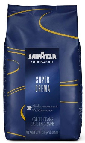 Lavazza Super Crema Whole Bean Coffee Blend 2.2lbs