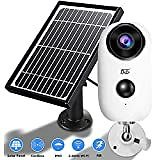 AKASO Wireless Outdoor Security Camera, WiFi Solar and Rechargeable Battery Indoor Home Security Camera, Alexa/Google Home, 1080P, Night Vision, 2-Way Audio, Motion Detect, IP65 Waterproof, Cloud/SD : Camera & Photo