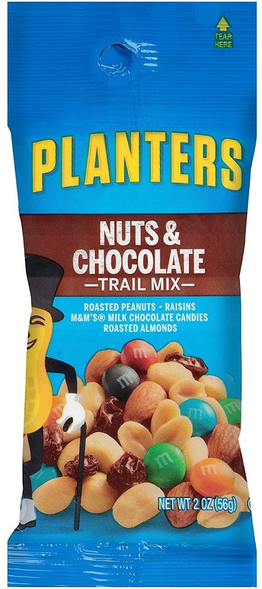 Planters Nuts & Chocolate Trail Mix, 2 Oz Bag (Pack of 72)