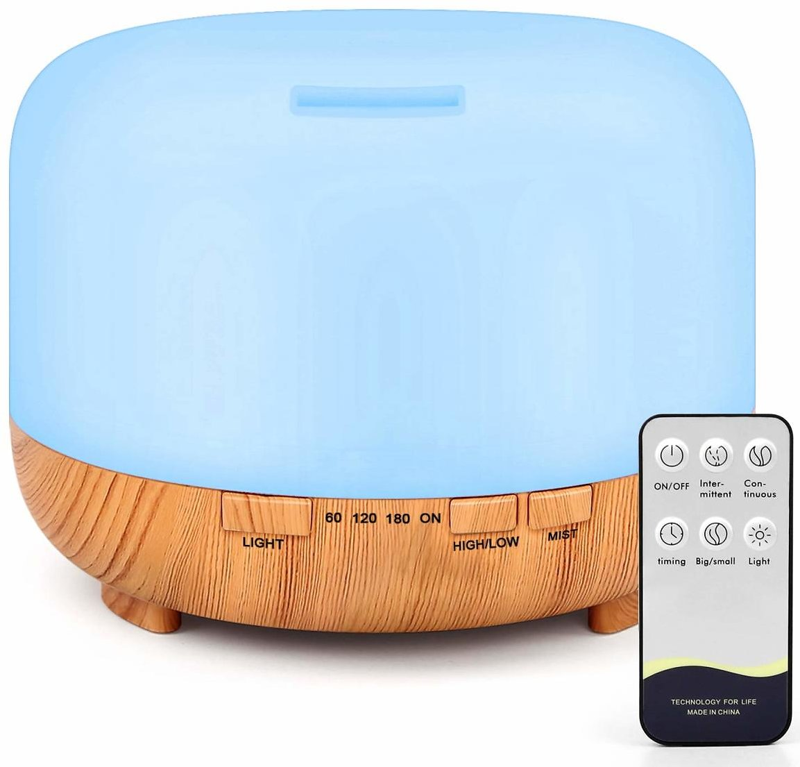 RENWER Essential Oil Diffuser - Ultrasonic Humidifier (500ml Remote Control Diffusers for Essential Oils)