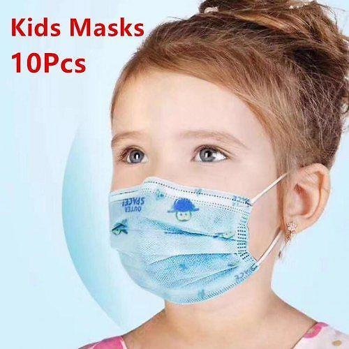 Kids Mouth Mask 3 Layer Disposable Elastic Mouth Soft Breathable Hygiene Child Face Non-medical Mask