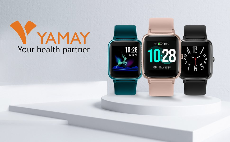 YAMAY Fitness Tracker Heart Rate Monitor Watches for Men Women, Fitness Watch IP68 Waterproof Digital Watch Sport Watch with Step Sleep Tracker Call Message Alerts Compatible IPhone and Android Phones : Clothing