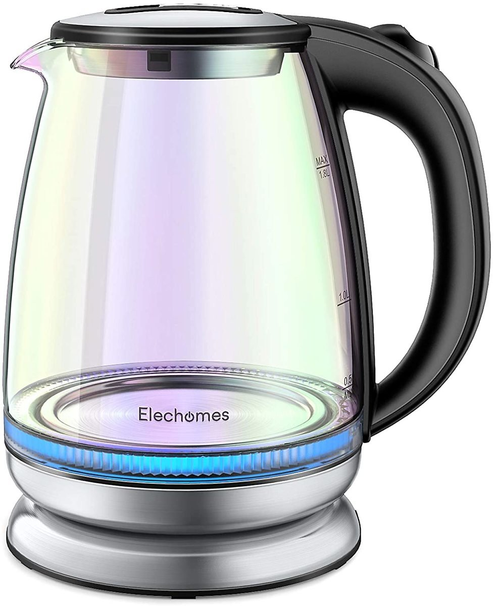 Save 50% | Electric Kettle, 1.8 Liter, Auto Shut-Off and Boil-Dry Protection, BPA-Free, Stainless Steel Inner Lid and Bottom