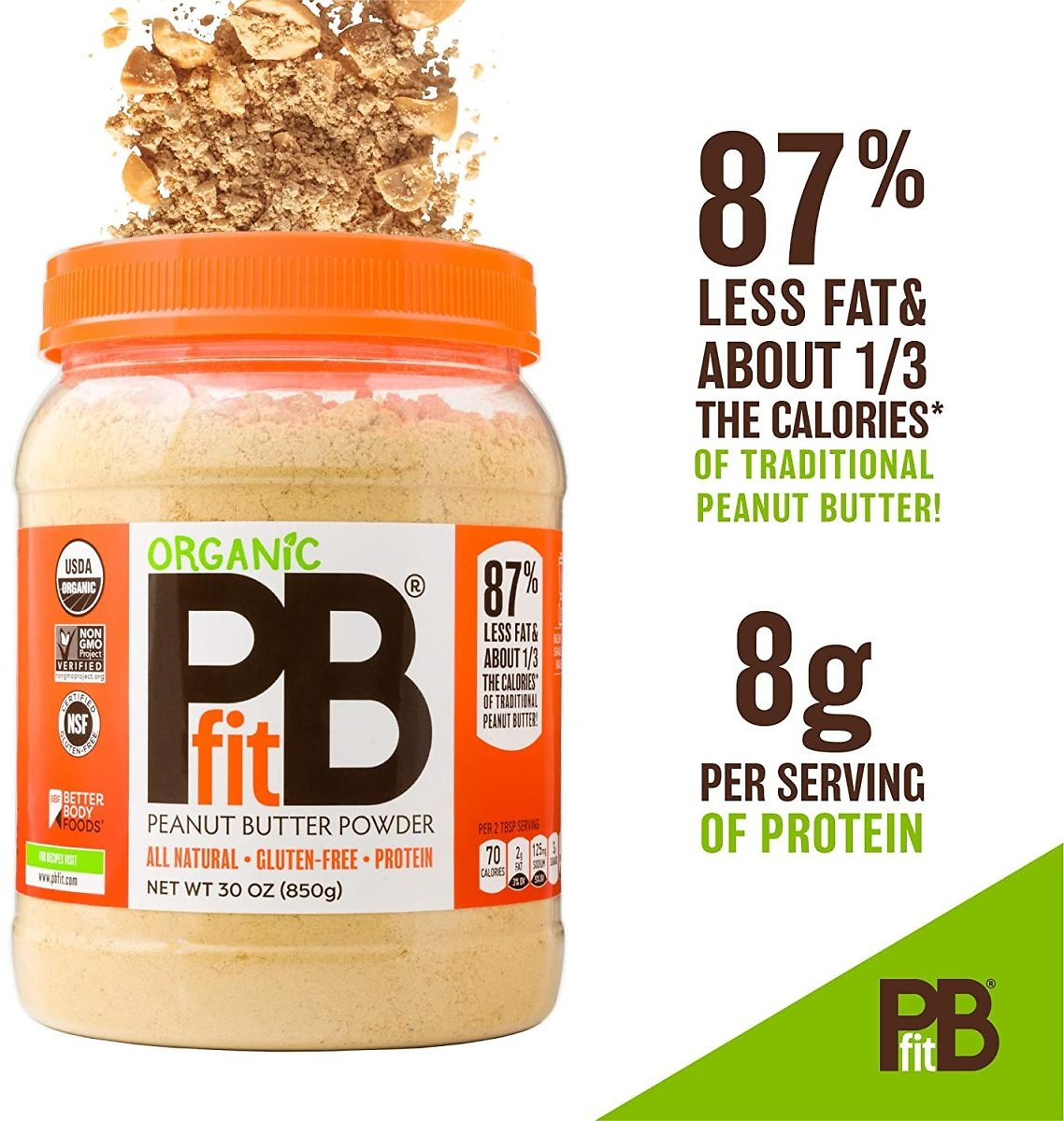 Save $2.30 On PBfit Peanut Spread from Real Roasted Pressed Peanuts, 8g of Protein (30 Oz.)