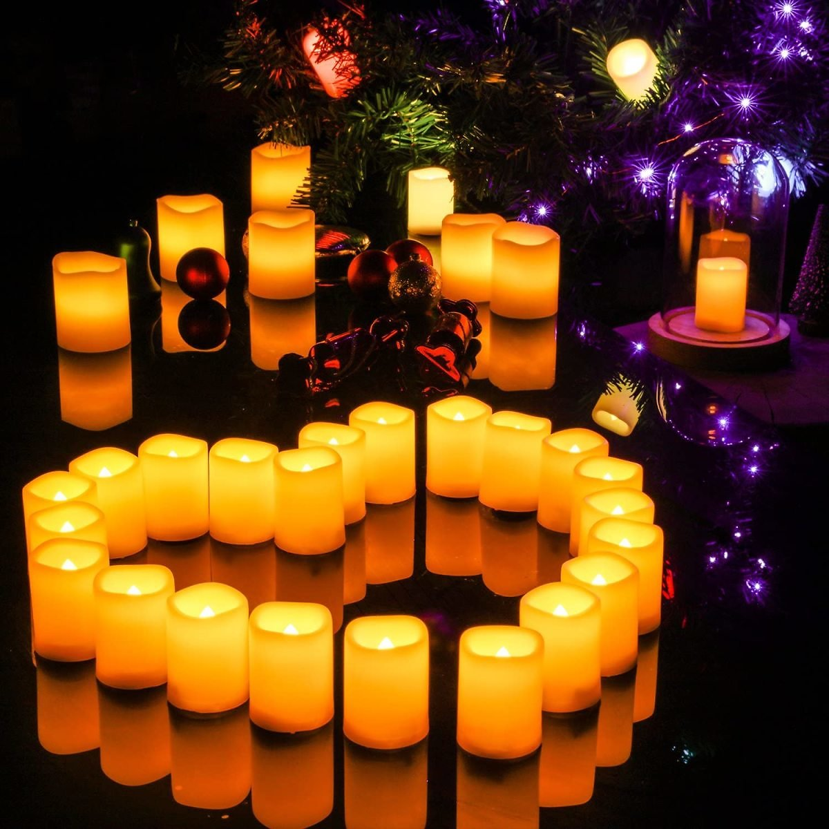 Kohree Flameless Candles LED Battery Candles with Timer Remote Control Easter LED Pillar Votive Unscented Ivory Remote Candles A